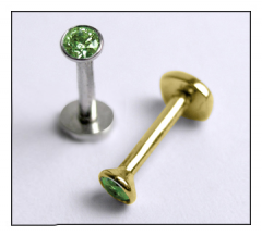 Gold Stud with Emerald