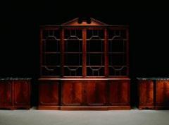 Georgian-style mahogany 4-door breakfront bookcase