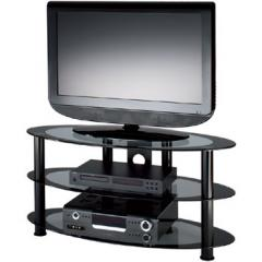 Alphason Atol ATO800/3 Curved Glass TV Stand for