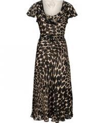 Graphic animal devore dress