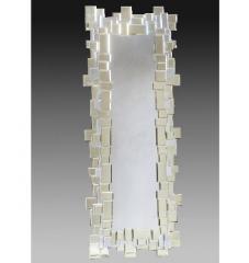 Amber Venetian Jigsaw Mirror