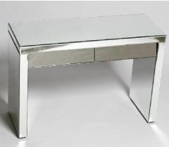 2 Drawer Slanted Drawer Clear Venetian Console
