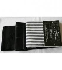 Pack of 3 Tea Towels-Black & White Pack of