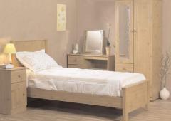 Farmhouse pine finish bedroom