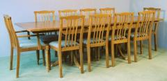 9ft extending dining table and contour back