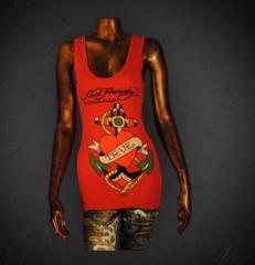 """""""True Anchor Heart"""" Top in Red"""