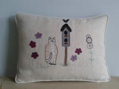 Country Cat Hemp Cushion