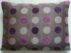 Purple Polka Dot Cushion