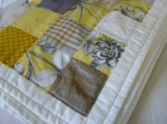 Yellow Cotton Patchwork Throw