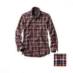Flannel Vintage Check Long Sleeve Shirt