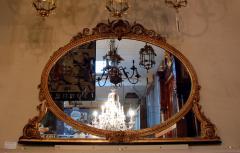 A Hepplewhite period overmantle giltwood mirror