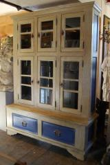 A glazed cabinet made from reclaimed hardwood