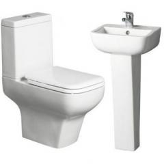 TC Mini Bathroom/Cloakroom Suite Toilet WC Sink
