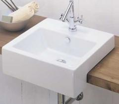 Box semi inset basin
