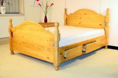 4 Drawer Double 4ft6 Pine Bedframe - Ferrara