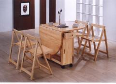Butterfly Drop Leaf Dining Table + 4 Dining Chairs