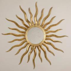 Soller Round Giltwood Mirror