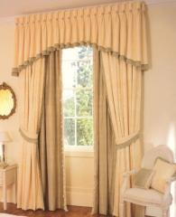 Fringed Shaped Valance Curtain