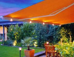Markilux® 1550 awning with front lights