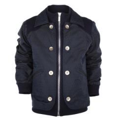Fendi navy blue collared jacket