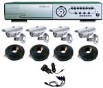 DVR4 Channel Network 250GB Night Vision System