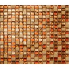 Athens glass copper mosaic tile 1.5x1.5cm