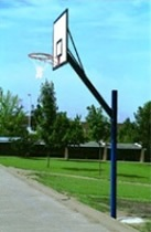 Cantilever Basketball Post with Wood Practice