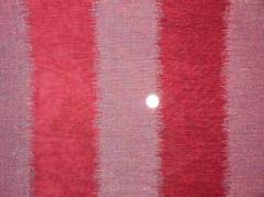 Fabric - Red Chenille stripe