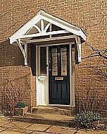 Timber Apex frame Porch canopy