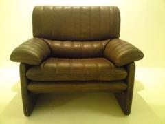 Vintage leather armchair by de Sede, 1980's