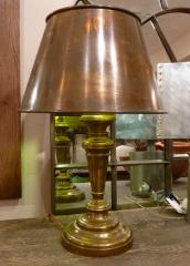 Brass and Copper Lamp