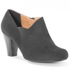 Black gusset heeled courts