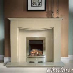 Charlotte Seattle Marble Marble Fireplace suite