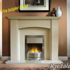 Rydale Marble electric Fireplace suite