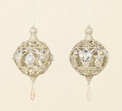 Gold Glitter and Diamante Drop Ball