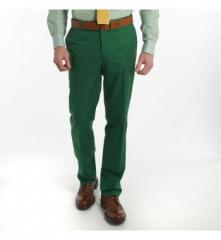 Kelly Green Flat Front Chinos