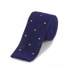 Purple Dotted Skinny Knitted Tie
