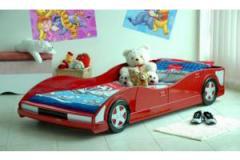 Red Grand Prix Racing Car Bed