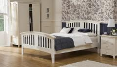 Morning Mist Alabaster White Double Size Bed Frame