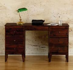 Contemporary Double Pedestal Dressing Table