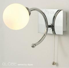 DIYAs - Globe IP44 Wall Lamp 1 Light