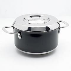 Black Enamelled Stainless Steel Casserole