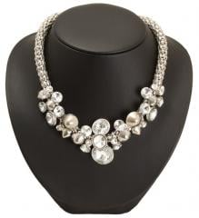 Chunky jewel cluster necklace