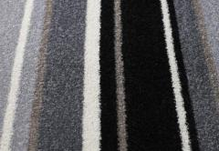Trendy Black Stripes Carpets