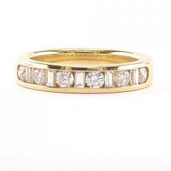 Baguette and brilliant cut diamond set band