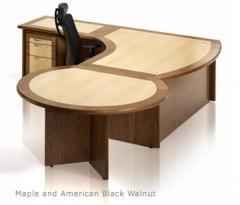 Maple and American Black Walnut Desk