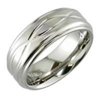 Gents 8mm Handmade Titanium Ring