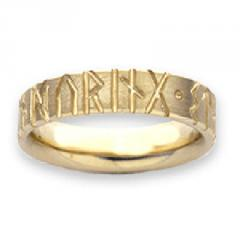 R34 YG Runic SF 9ct yellow gold sizes R-Z 1