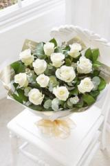 Bouquet Heavenly Rose Hand-tied - White