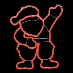 LED Father Christmas Silhouette